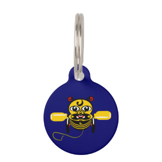 Hei Tiki Bee Toy Kiwiana Pet Name Tag