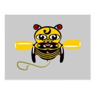 Hei Tiki Bee Toy Kiwiana Postcards