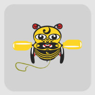 Hei Tiki Bee Toy Kiwiana Stickers