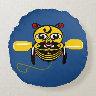 Hei Tiki Bee Toy Maori Design New Zealand Round Pillow