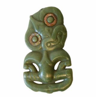 Hei-Tiki maorí Adorno Fotoescultura