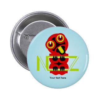 Hei Tiki Maori Design NZ New Zealand Pinback Button