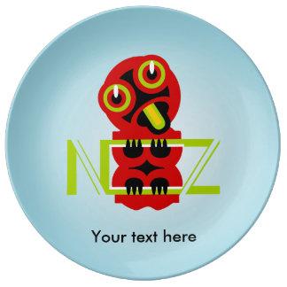 Hei Tiki Maori Design NZ New Zealand Porcelain Plate