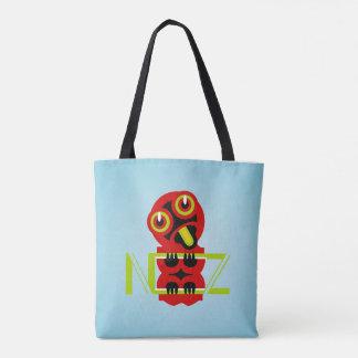 Hei Tiki Maori Design NZ Typogrpahic Tote Bag