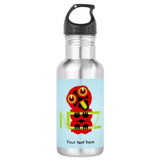Hei Tiki N.Z. Text art design Stainless Steel Water Bottle