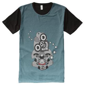 Hei Tiki New Zealand Drum All-Over Print T-shirt