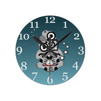 Hei Tiki New Zealand Drummer Round Clock