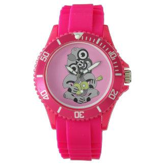Hei Tiki Ukulele watch, black and green Wristwatch