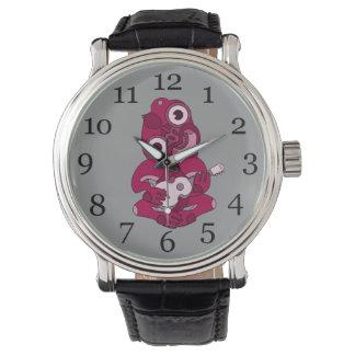 Hei Tiki Ukulele watch, pink Wristwatch