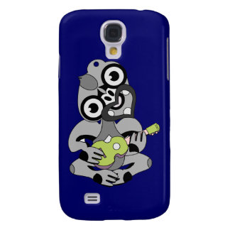 Hei Tiki with green ukulele Samsung Galaxy S4 Cases