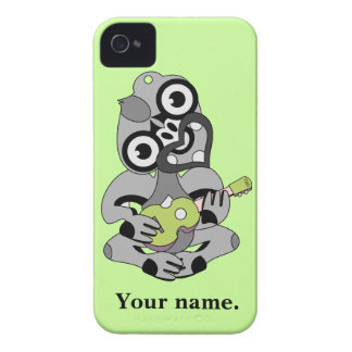 Hei Tiki with green ukulele Case-Mate iPhone 4 Cases