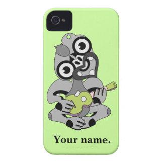 Hei Tiki with green ukulele iPhone 4 Case