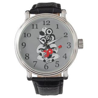 Hei Tiki wuth red Ukulele watch, black Watch