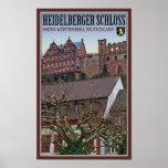 Heidelberg - castillo de debajo posters