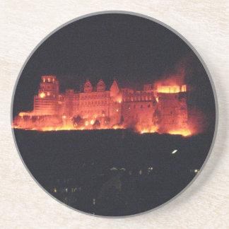 Heidelberg Castle Burning Sandstone Coaster