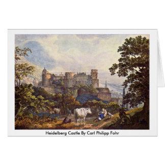Heidelberg Castle By Carl Philipp Fohr Greeting Card