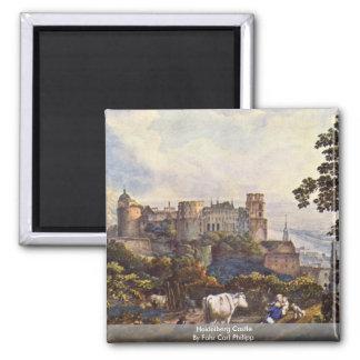 Heidelberg Castle By Fohr Carl Philipp Magnet