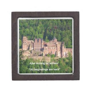 Heidelberg Castle In German & German Saying Keepsake Box