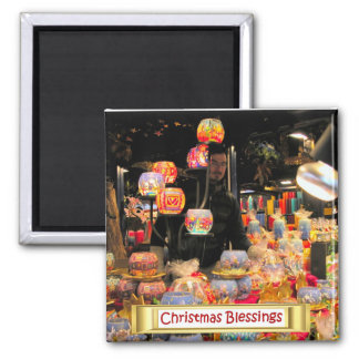 Heidelberg Christmas Market,  Candle holders 2 Inch Square Magnet