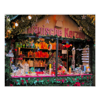 Heidelberg Christmas Market,  Candleslight Poster