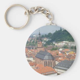 Heidelberg city view Keychain