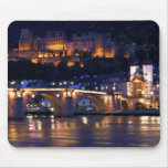 Heidelberg en la noche Mousepad Alfombrillas De Raton