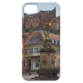 Heidelberg - estatua y castillo iPhone 5 Case-Mate fundas