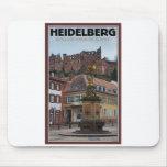 Heidelberg - estatua y castillo tapete de raton