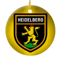 Heidelberg Flag Ceramic Ornament