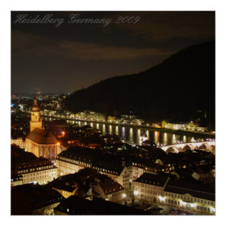 Heidelberg Germany 2009 Poster