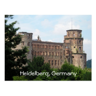 Heidelberg Germany castle customizable postcard