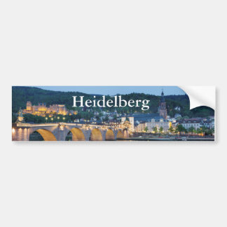 Heidelberg Panorama view Bumper Sticker