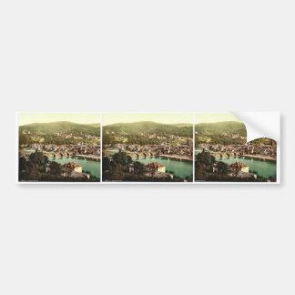 Heidelberg, seen from the Philosophenweg, Baden, G Bumper Stickers