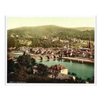 Heidelberg, seen from the Philosophenweg, Baden, G Postcard