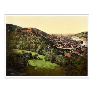 Heidelberg, seen from the Terrace, Baden, Germany Postcard