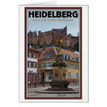Heidelberg - Statue and Castle Card