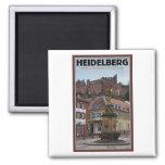 Heidelberg - Statue and Castle Fridge Magnet