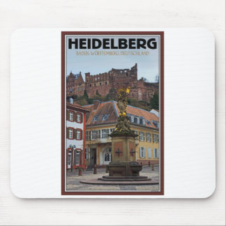 Heidelberg - Statue and Castle Mouse Pad