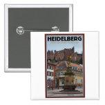 Heidelberg - Statue and Castle Pinback Button
