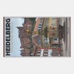 Heidelberg - Statue and Castle Rectangular Sticker
