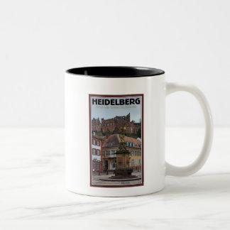 Heidelberg - Statue and Castle Two-Tone Coffee Mug