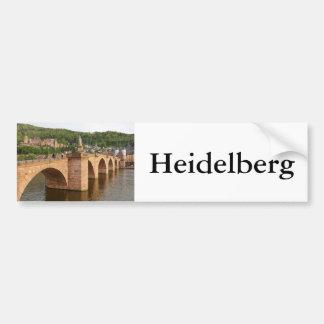 Heidelberg view over the Neckar Bumper Sticker