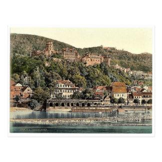 Heidelberg, vista del Hirschgasse, Baden, germen Postales