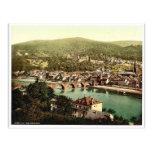 Heidelberg, vista del Philosophenweg, Baden, G Postales