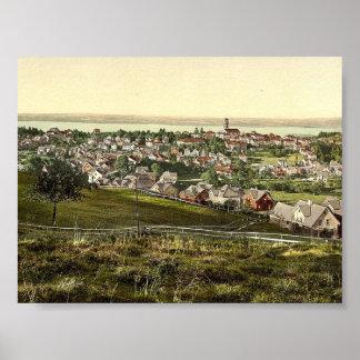 Heiden, Appenzell, vintage Photochrom de Suiza Impresiones