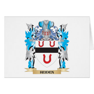Heiden Coat of Arms - Family Crest Stationery Note Card