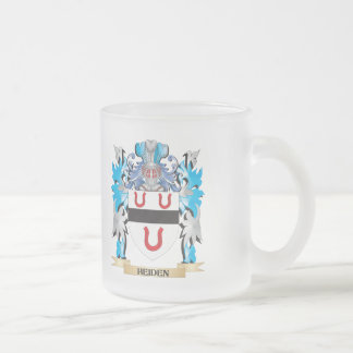 Heiden Coat of Arms - Family Crest 10 Oz Frosted Glass Coffee Mug