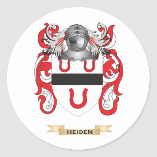 Heiden Coat of Arms Family Crest Round Stickers