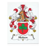"Heiden Family Crest 6.5"" X 8.75"" Invitation Card"