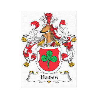 Heiden Family Crest Stretched Canvas Prints